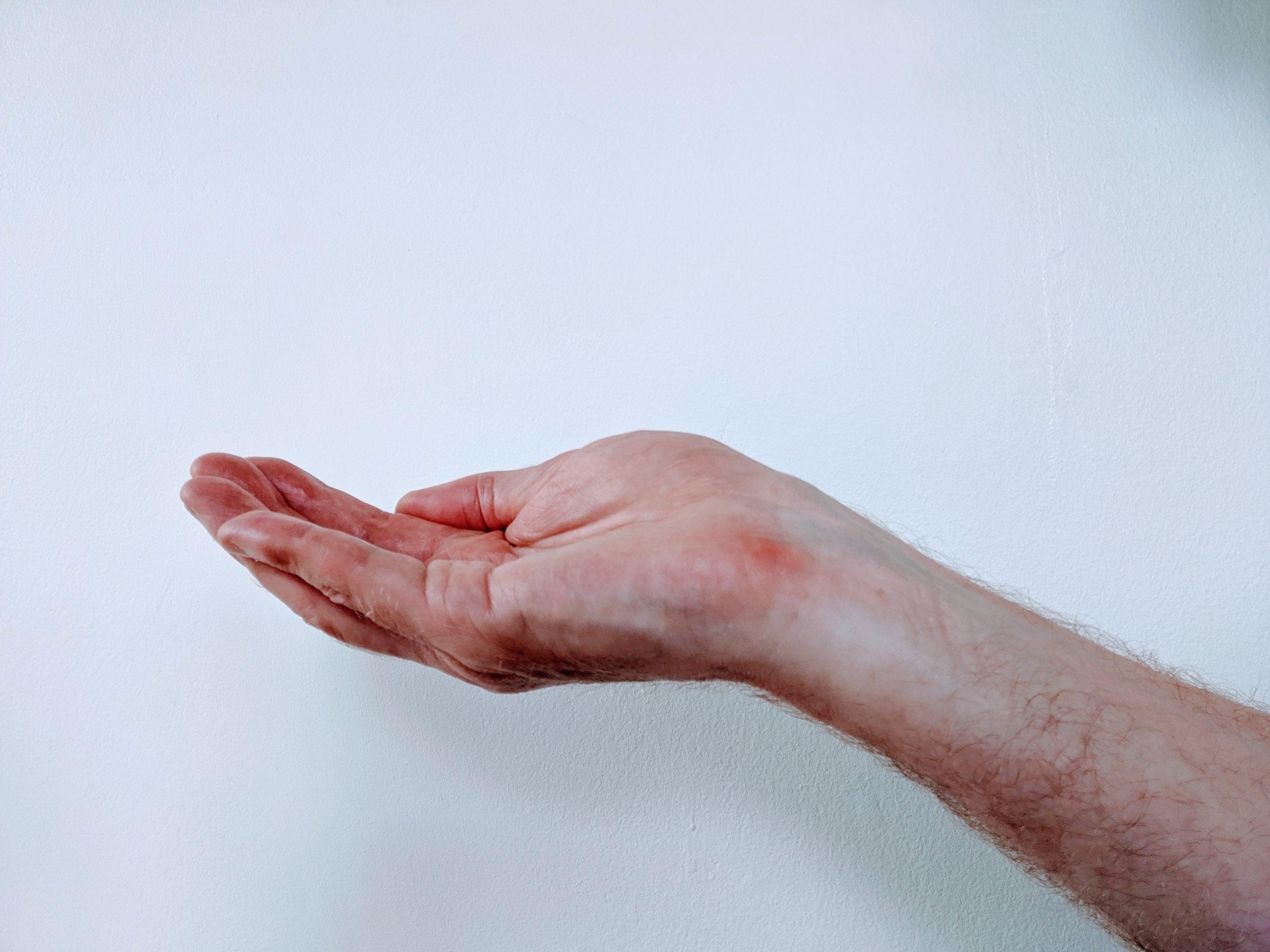 The reiki hand position